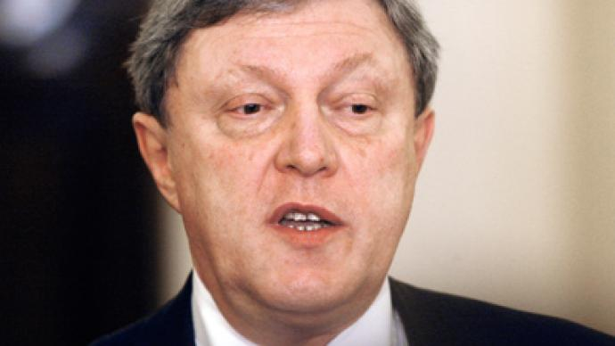 Yavlinsky blames tight schedule for registration failure
