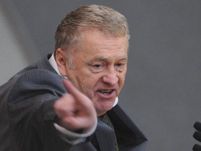Zhirinovsky outlines plans for a Russia ruled by Czars