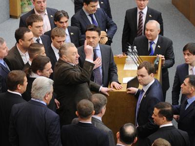 Duma debacle: Zhirinovsky reaches for his pitchfork