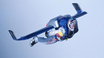 Is it a bird…Is it a plane…it's Russian flying man