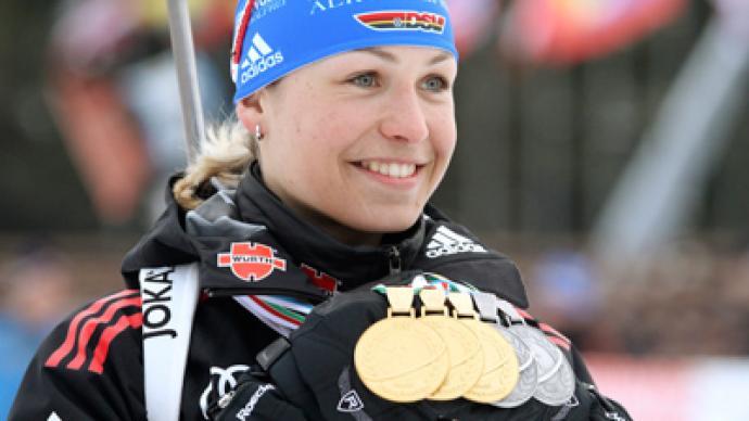 Biathlon queen announces end of sporting career