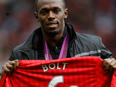 Man Utd fans want Bolt on their team
