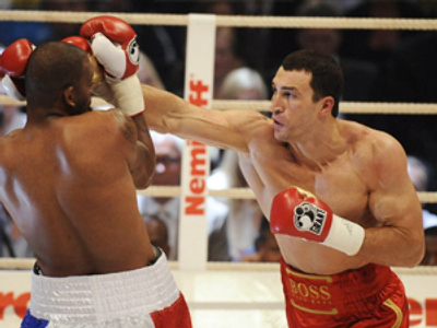 Boxing champ Klitschko defends his title