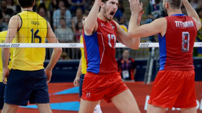 Russia shock Brazil in Olympic volleyball final