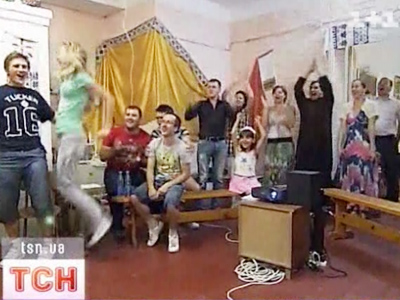 Euro 2012 prayer: Ukrainian priest turns church into fan-zone