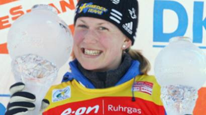Russian wins at biathlon World Cup