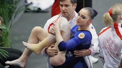 Douglas unreachable for Russia in artistic gymnastics individual all-around