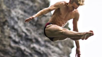 Russian sets highest-ever total for cliff diving