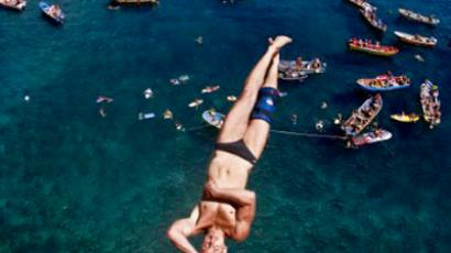 """Standing on the edge, I'm just out of this world"" – Russian cliff diving star"