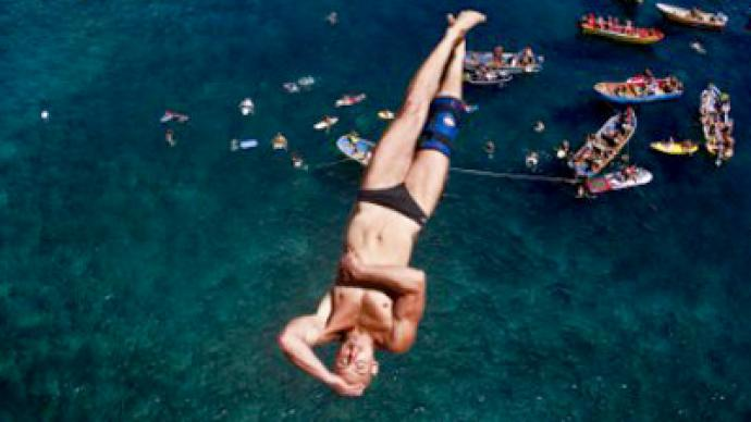 Russian aiming for cliff diving world title