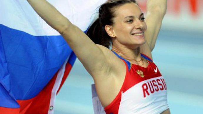 Isinbayeva wins Russia's only gold at world indoors