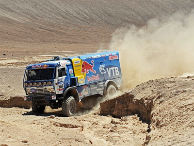Chagin's Kamaz takes Dakar lead