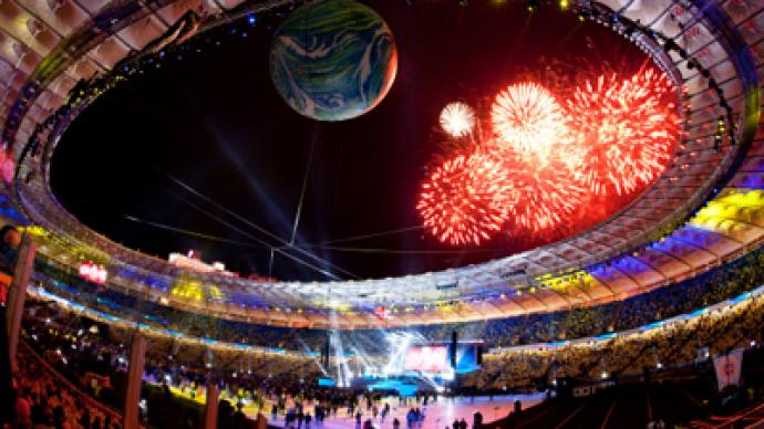 Kiev stadium opens in blaze of glory