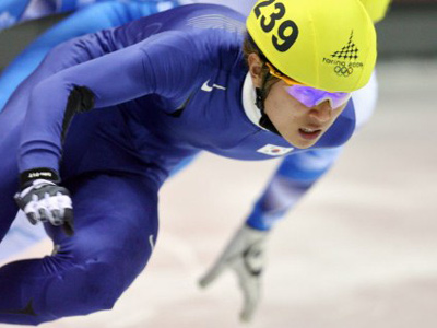 Naturalized short-track star explains Russian name choice