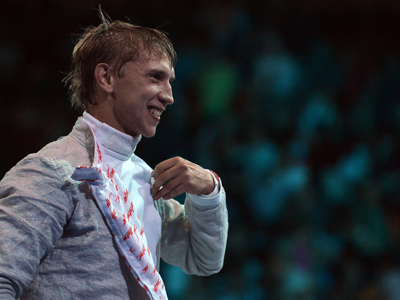 Velikaya wins fencing silver for Russia
