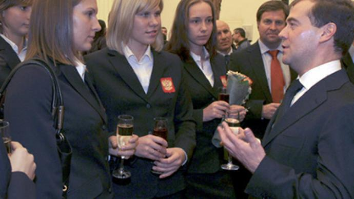 Medvedev greets champions of 2010