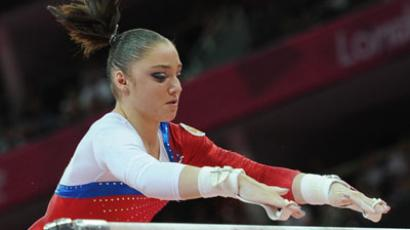 Mustafina takes third in floor exercise