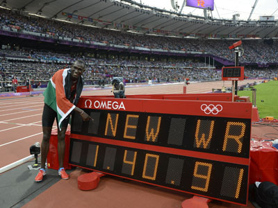 Historic night in Olympic arena as Bolt seals double-double and Rudisha sets world record
