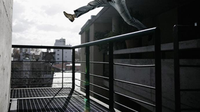 Parkour fever in central Moscow