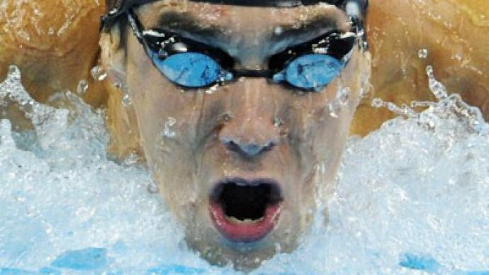 Phelps grabs 100m medley gold in Moscow pool