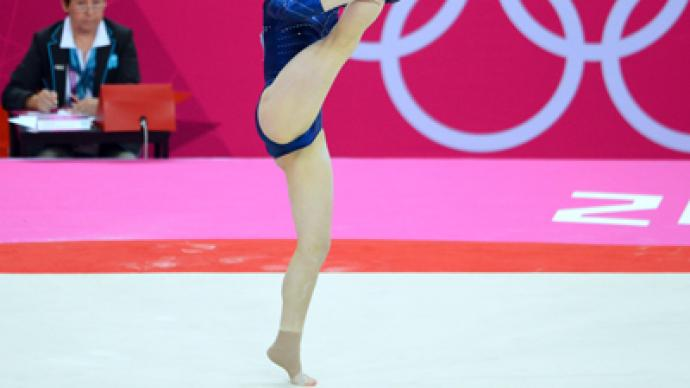 Mustafina takes third in floor exercise