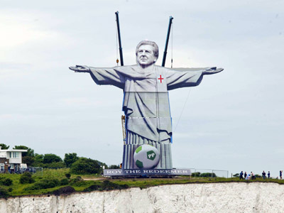 """Roy the Redeemer"", Dover statue to honor England coach ahead of Euro 2012 (PHOTO)"