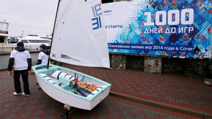 Russia celebrates 1,000 day before Sochi 2014