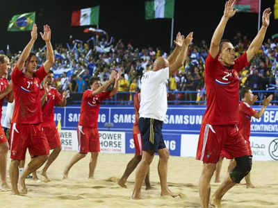 Russia still too strong for Brazil in beach soccer