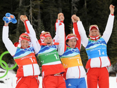 Russia repeats as biathlon relay champ