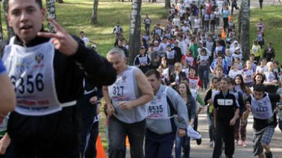All-Russia running fest attracts 1.2 mln participants