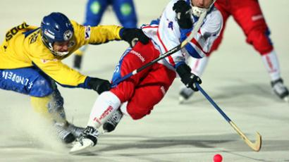 Russia beat Sweden to make Bandy Worlds finals