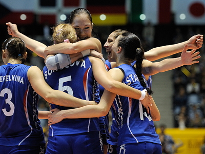 Russia best at women's volleyball worlds