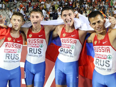 Russian athletes dominate in Barcelona