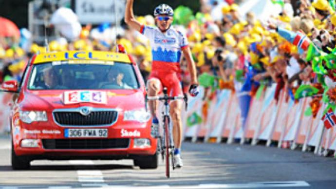 Russian grabs Tour de France stage win