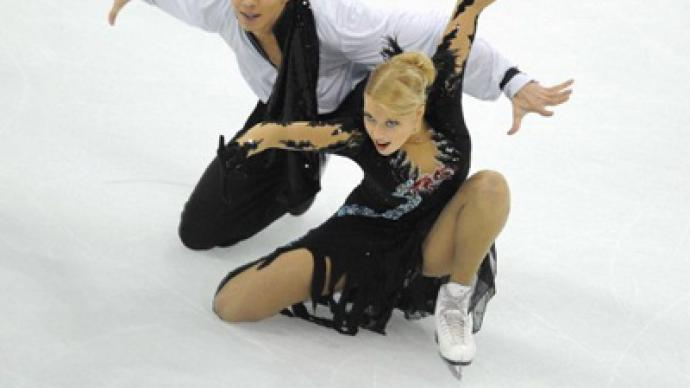 Russian ice dancers shine at Cup of China