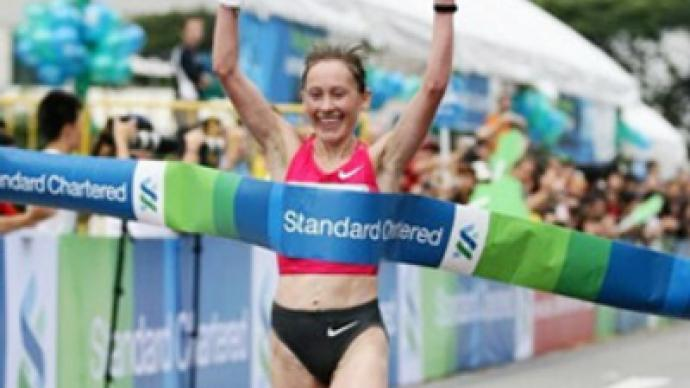 Russian women dominate Singapore marathon