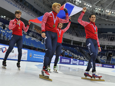 Russian short-trackers have golden rehearsal for Sochi Olympics
