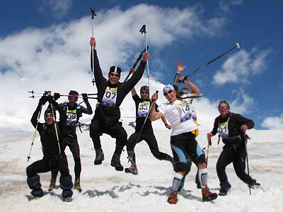 Sky running record set at Mount Elbrus