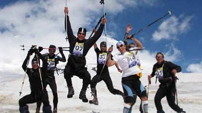 Sky running record set at Mount Elbrus