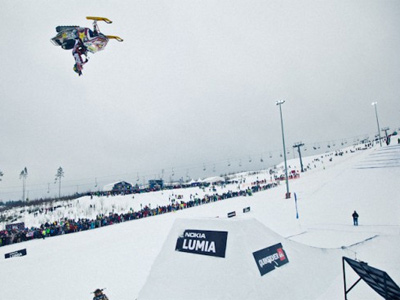Amateur snowboarders battle for chance to turn pro