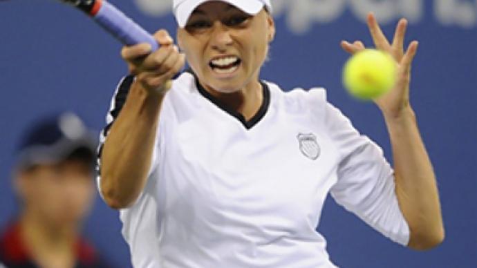 Zvonareva in US Open quarter-finals, Sharapova and Kuznetsova out