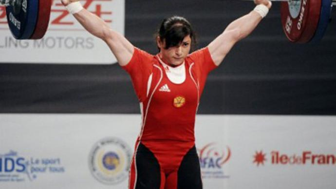 Russian snatches weightlifting world record
