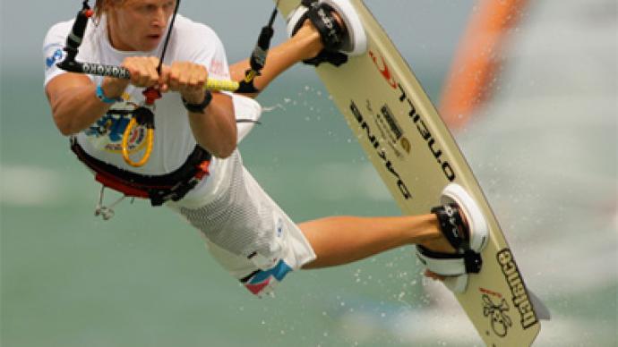 Russian kite surfer crosses Gulf of Finland