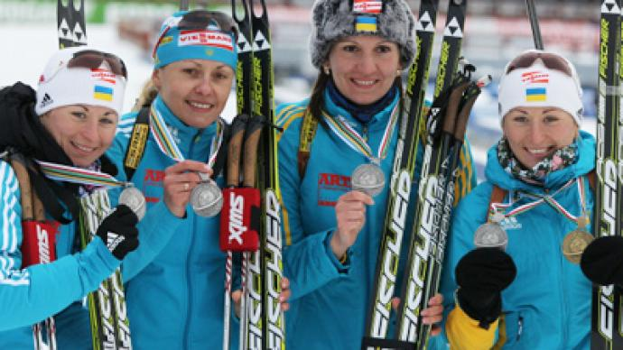 Ukraine stripped of Biathlon Worlds silver medal