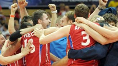 Russian volleyball squad snatch Olympic ticket