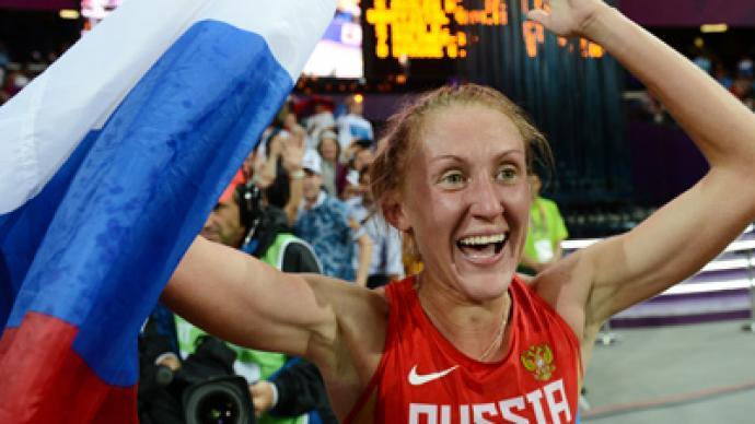 Russia's Zaripova first in 3000m steeplechase