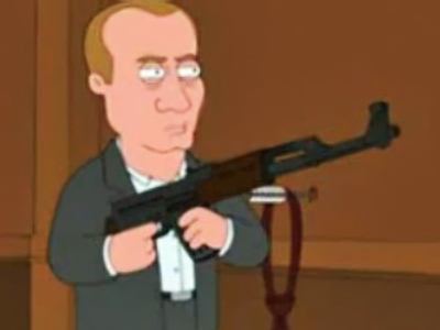 "Putin stuns ""American spies"" in Family Guy"