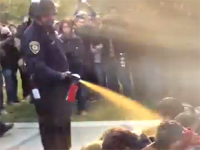 UC Davis slammed for pepper-spraying students