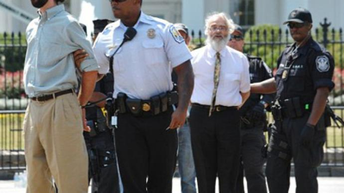 Hundreds arrested in front of the White House