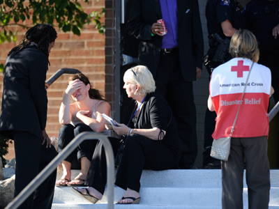 'I saw little kids die' – eyewitness accounts of Colorado massacre